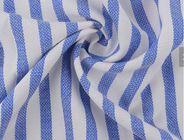 Breathable 100 Rayon Fabric , Woven Stripe Fabric Yarn Dyed Moisture Absorption